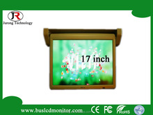 High definition 17inch 12V motorized car lcd monitor with hdmi input