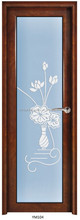 china best cheap price interior frosted glass bathroom door