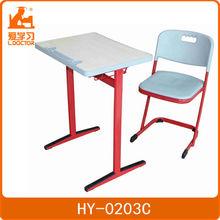 Single kid furniture school desk with metal frame