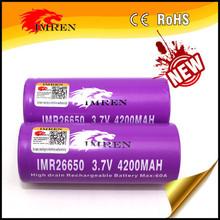 Best selling IMREN 26650 4200mah 60a rechargeable 3.7V battery 26650 battery for 26650 Brick House BOX mod