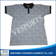 Sublimation polyester sports polo-neck shirts