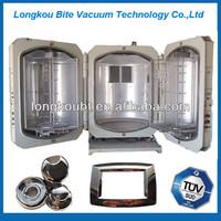 plastic decorative vacuum metallizing machine/disposable plastic spoon and fork vacuum coating equipment
