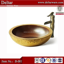 jingdezhen art basin, special color wash basin, Andesite granite picked gold basin