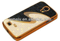 For Samsung Galaxy S4 mini i9190 S Line Designer Leather Hard Chrome Case