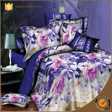 2015 New 3D Rose Fashion Printed Bedding Set 100%Polyester
