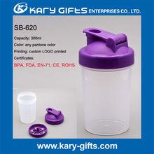give away custom plastic shaker bottle 350ml