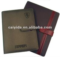 competive and Factory direct supplied leather 2013 subject notebook with calendar