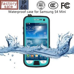 for samsung galaxy s4 mini waterproof cell phone case