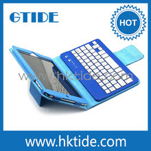Leather Case Stand Cover With Removable Bluetooth Keyboard Compatible For IOS,Android ,Window