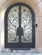Top -selling wrought iron double entry doors SG-15D031