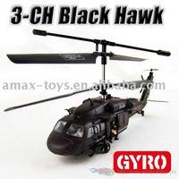 rh-yd919 Black Hawk 3CH RC Helicopter with Intelligent Gyro