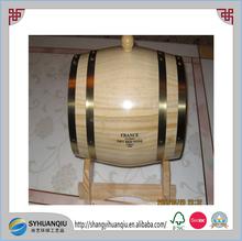 Wooden Oak Barrel 5L-Black rustic rings-Wine,Port,Rum,FREE LASER ENGRAVING