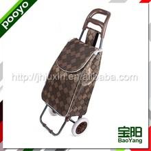 high quality luggage trolley 4 wheel two tier cargo cars