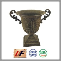 Cost-Effective Quality Assured Custom Print Decorative Orchid Metal Resin Flower Pots People