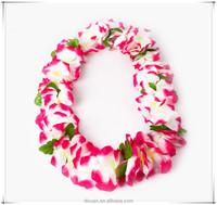 Decorative Polyeste Wedding Flower Garland Luau leis Hawaiian Silk Flower Leis