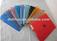 Crystal rubber coated Slim Hard Case For New iPad 3/IPAD 2 FIT SMART COVER