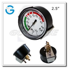 "2.5"" U clamp medical screw type panel mount pressure gauge"
