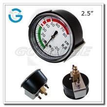 "High quality black steel 2.5"" pressure gauge medical with u-clamp"