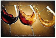high quality Handmade wine glass oil painting 15841