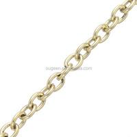 4.3*3.2mm 2015 hot sale cross jewelry chain factory dubai new gold chain design