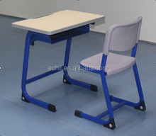 CY313 used school desk and chair, study table furniture