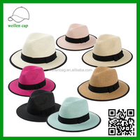 Simple jazz hat, beach resort hats, fashion Topper, sun straw hat