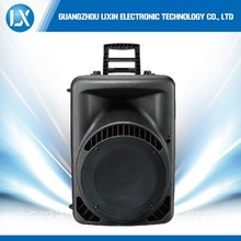 Big woofer acoustic pro powered portable music box speakers 12V