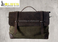 High quality mens messenger bag with canvas