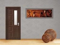 glass panel classroom wooden door