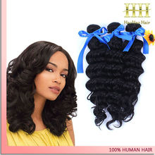 Export high quality wholesale deep wave brazilian human hair