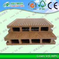 LSHD-03 135*25mm wpc decking prices/Easy installation Cheap Cost Outdoor wpc flooring