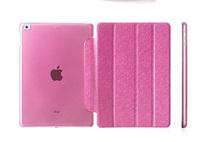 Smart Pure Colour Wake Sleep Folio Stand three fold Silk Leather Case Cover for Apple iPad Air 2 Fundas Capa para capinhas