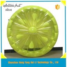 stock hot sale fun lemon Slice Inflatable Island Raft, inflatable fruit slice,fun floating island