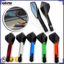 BJ-RM-055 TOMAHAWK Style CNC Billet Aluminum Comfort and Versatility Motorcycle Rearview Mirror