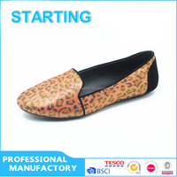 Hot fashion woman loafers classic sexy leopard flat shoes