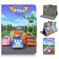 Robocar Poli Cartoon Folio Stand PU Leather Smart Cover Case For iPad 2 3 4/Mini/Air