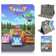 Robocar Poli Cartoon Folio Stand PU Leather Smart Cover Case For iPad 2 3 4/Mini/Air