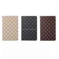 Portfolio Grid pattern leather case for iPad mini 4