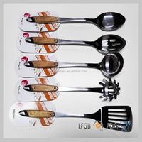 Wholesales stainless steel kitchen set cookware tools stainless steel kitchen set with wood handle