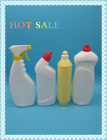 plastic bottle for kitchen oil stain lotion cleaning bottle with spray gun /detergent plastic cleaning bottle manufacturer