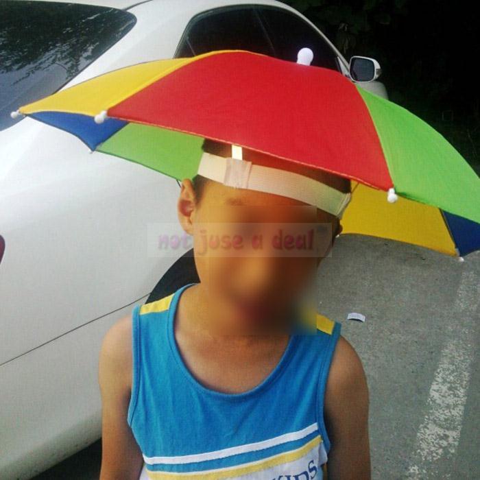 Зонт на голову своими руками
