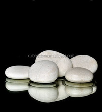 white pebble stone for home decoration ,used in garden ,shower from white pebble for garden cheap