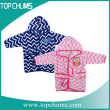 2015 High Quality Funny girls Bathrobes Wholesale with Embroidered animal
