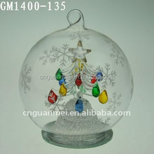 QVC factory supplier decoration painting ball with figurinesin it wholesale