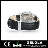 Alibaba china hotsell golden skeleton automatic watches 2014