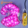 10m 50 leds de color púrpura flor de durazno cadena de la lámpara/Flores luz