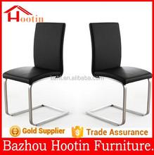Alta qualidade capa de couro e metal pernas L forma cadeira de jantar para móveis de cozinha