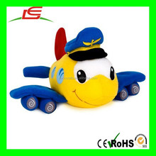 Top quality plane shaped plush mobile phone holder, airplane stuffed toy, plush toy plane for kids