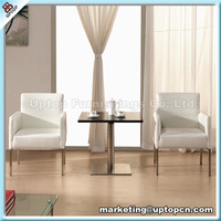 Modern Salon furniture tea table and fabric chair for waiting (SP-DST697)