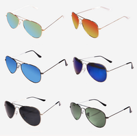 FDA&CE free sample cheap price custom logo mirror lens aviator sunglasses